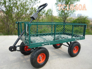 High Quality Steel Meshed Garden Cart with Removable Folding Sides (TC1804A)