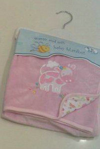 Embroidery Coral Fleece Baby Blanket (LYBB)