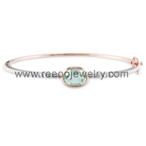 Charm Link Bracelet, Silver Bracelet for Women