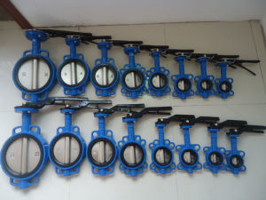 Lever Operated Wafer Type Butterfly Valve pictures & photos