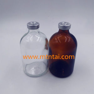 100ml Moulded Injection Bottle with 20mm Aluminum Caps pictures & photos