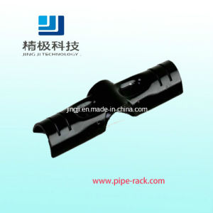 Black Metal Joints for Pipe Rack System PE Coated Steel Pipe Metal Stamping Joint (H-4)