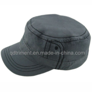 Heavy Washed Plain Cotton Cloth Army Military Cap (ESPM00489) pictures & photos