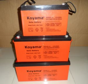 ISO9001 Certified 200ah 12V Solar Power Gel Storage Battery pictures & photos
