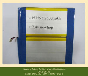 Lithium Polymer Battery Pack 7.4V 2500mAh for Tablet PC