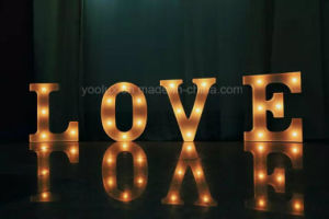 Plastic LED Decoration Craft Gift Letter LED Light pictures & photos