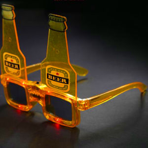 Beer Bottle LED Sun Glasses pictures & photos