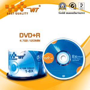 Cake Box Pack Blank DVD+R 8x4.7GB120min with Blue Circle Logo (WT blank DVD+R 8X 052)