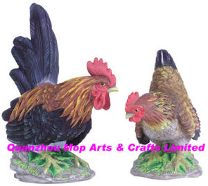 Polyresin Rooster & Hen Statue pictures & photos