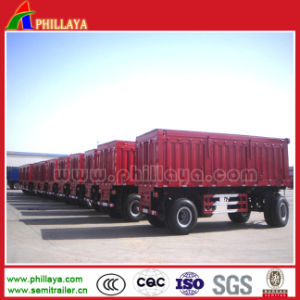 Full Flatbed Trailer for Tractor Transportation pictures & photos