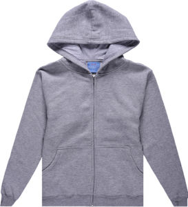 Wholesale Organic Cotton Zip up Hoodie Sweatshirt pictures & photos
