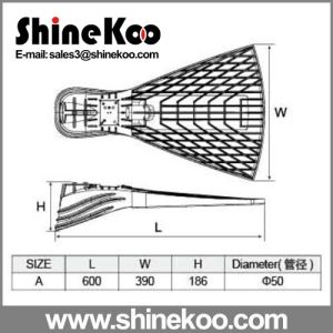 100W Small Two Holes Die-Casting LED Housing for Streetlights pictures & photos
