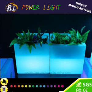 Plastic Glow LED Cubic Indoor&Outdoor Garden Flower Pot pictures & photos