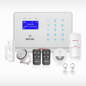 Wireless Home GSM Intruder Alarm System with RFID Card pictures & photos