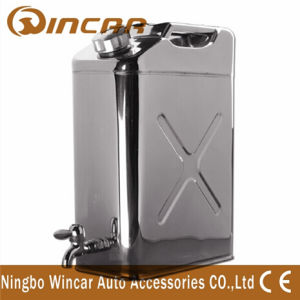 20L Stainless Steel Gasoline Tank with Tap From Ningbo Wincar pictures & photos