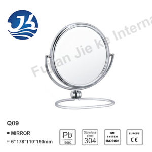 Bathroom Elegance Stainless Steel Desktop Table Vanity Mirror Q09