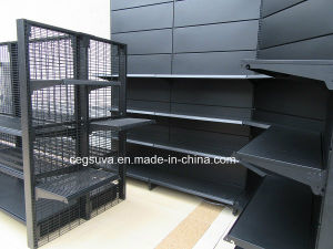 Backplane Style Metal Gondola Supemarket Display Rack Shelf pictures & photos