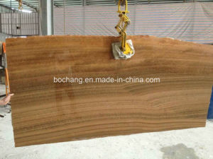 Yellow Wooden Stone Marble for Polished Tile Slab pictures & photos