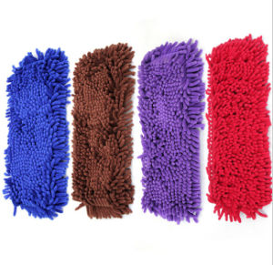Wholesale Red Replaceable Chenille Floor Cleaning Flat Mop pictures & photos