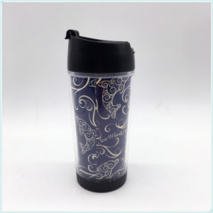 GMP Approved Factory Directly Supply 14oz Double Wall Coffee Cup with Silicone Band pictures & photos