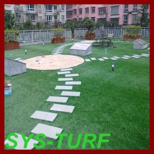 Artificial Turf for Roof Decoration pictures & photos