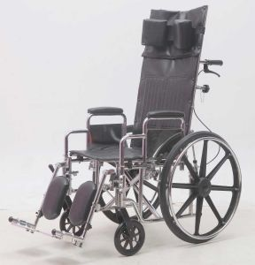 Steel Manaul, Reclining, Wheelchair, Leather, (YJ-011F) pictures & photos