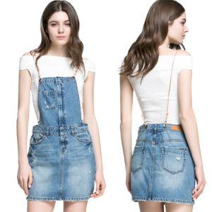 2016 Fashion Women Mini Short Denim Braces Skirt pictures & photos
