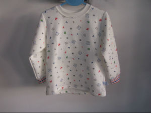 Printed Baby Shirt in Triple Layer Bamboo (OEM) pictures & photos