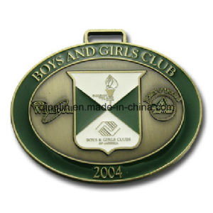Custom Oval Shape Medals with Logo (QL-JP-0028) pictures & photos