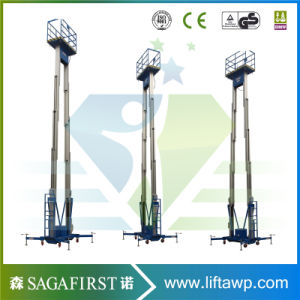 10m Upright Aluminum Alloy Work Lift Platforms Small Manlift with Ce pictures & photos