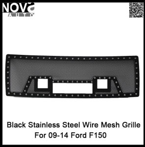 2009 to 2014 Black Wire Mesh for Ford150 Stainless Grille