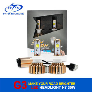 30W 3000lm Turbo Fan H1/H3/H7/H4/9005/9006 Car/Truck Installed CREE LED Headlight pictures & photos