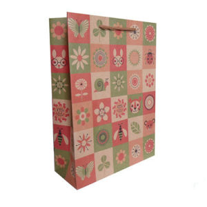 Recycle Color Printing Paper Shopping Bag with Handle
