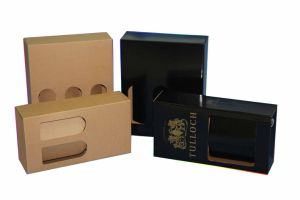 Manufacture OEM Black Rigid Handmade Paper Package Boxes pictures & photos