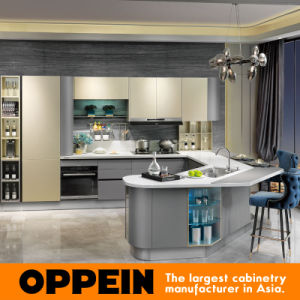 Oppein Modern High Quality Lacquer Wood Modular Kitchen Cabinet (OP15-036) pictures & photos