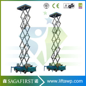 8m to 14m Electric Hyraulic Vehicle Mounted Scissor Elevator Platform pictures & photos