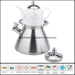 Double Whistle Kettle with Ceramic Teakettle Samovar Tea Set pictures & photos