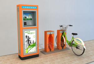 Public Bike-Vibrant Orange Steel Pipe Single Lock Double Column