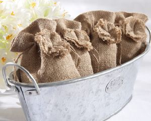 Natural Style Colored Printed Drawstring Burlap Jute Pouches pictures & photos