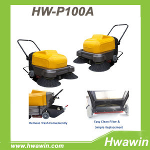 Hand Push Factory Parking Lot Floor Sweeper Machine pictures & photos