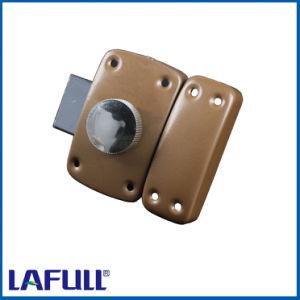 1658 Iron Lock Case Plastic Knob Door Rim Lock pictures & photos