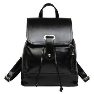 Black Color PU Leather Ladies Backpack (AL128)