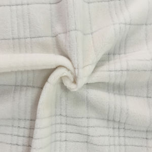100% Polyester Grid 9 Jacquard Flannel Fleece pictures & photos