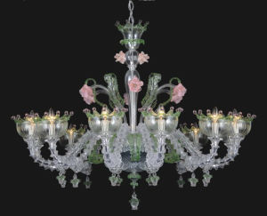Transparent Flower Shape Modern Glass Chandelier (81068-12) pictures & photos