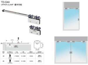 Hydraulic Hanging Wheel /Door Closer for Glass Door (TD-G44) pictures & photos