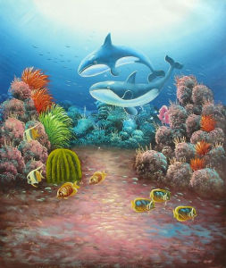Underwater World Fishes Wall Wallpapers for Home Indoor Wall Decoration (LH-372000) pictures & photos