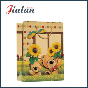 Printing Toy Bear Brown Kraft Paper Hand Shopping Gift Bag pictures & photos