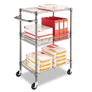 Library Push Metal Cart Rack for Book and Magazine (BK753590A2CW) pictures & photos