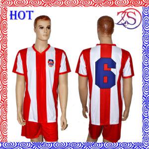 Custom Sportswear Football Shirt Team Name Soccer Uniform for Wholesale pictures & photos