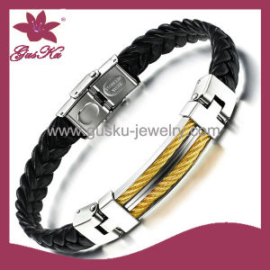 Charming Leather Bracelet (2015 Stlb-109) pictures & photos